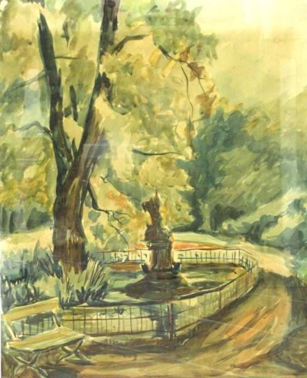 Denkmal im Park – Oktober 1939