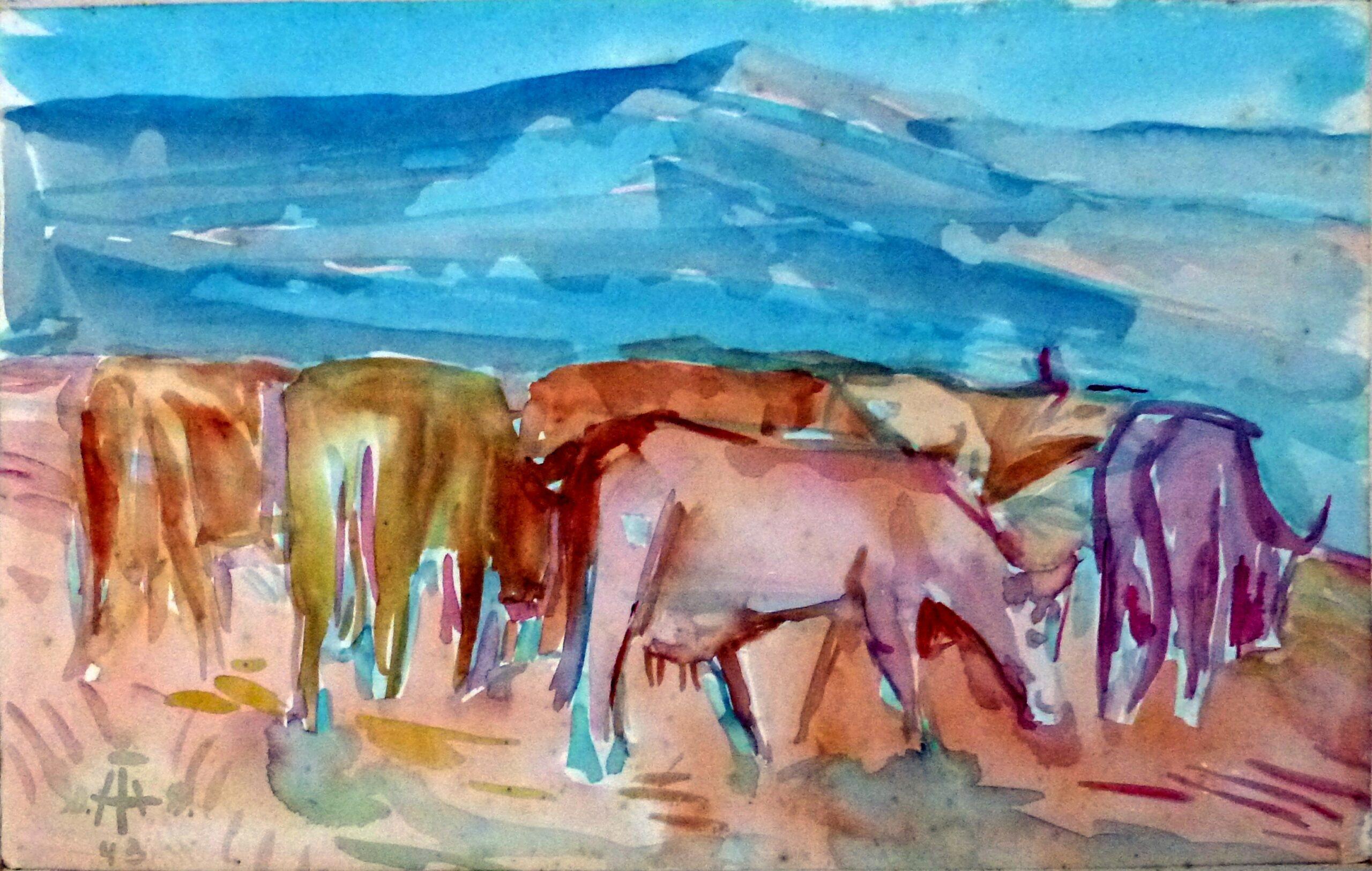Kühe auf der Weide 30 – September 1943