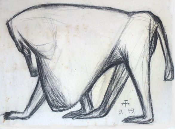 Schreitender Pavian – September 1949
