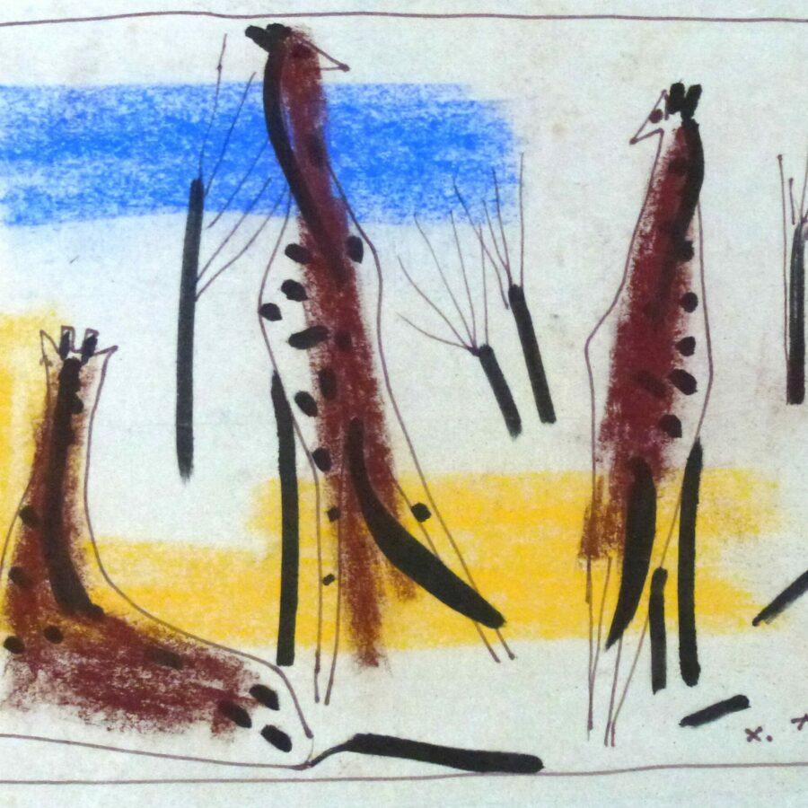 Drei Giraffen – Oktober 1972