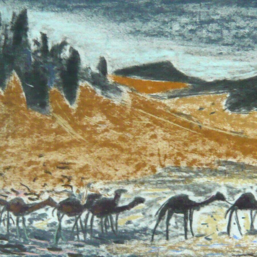 Karawane im Wüstengebirge – Dezember 1973