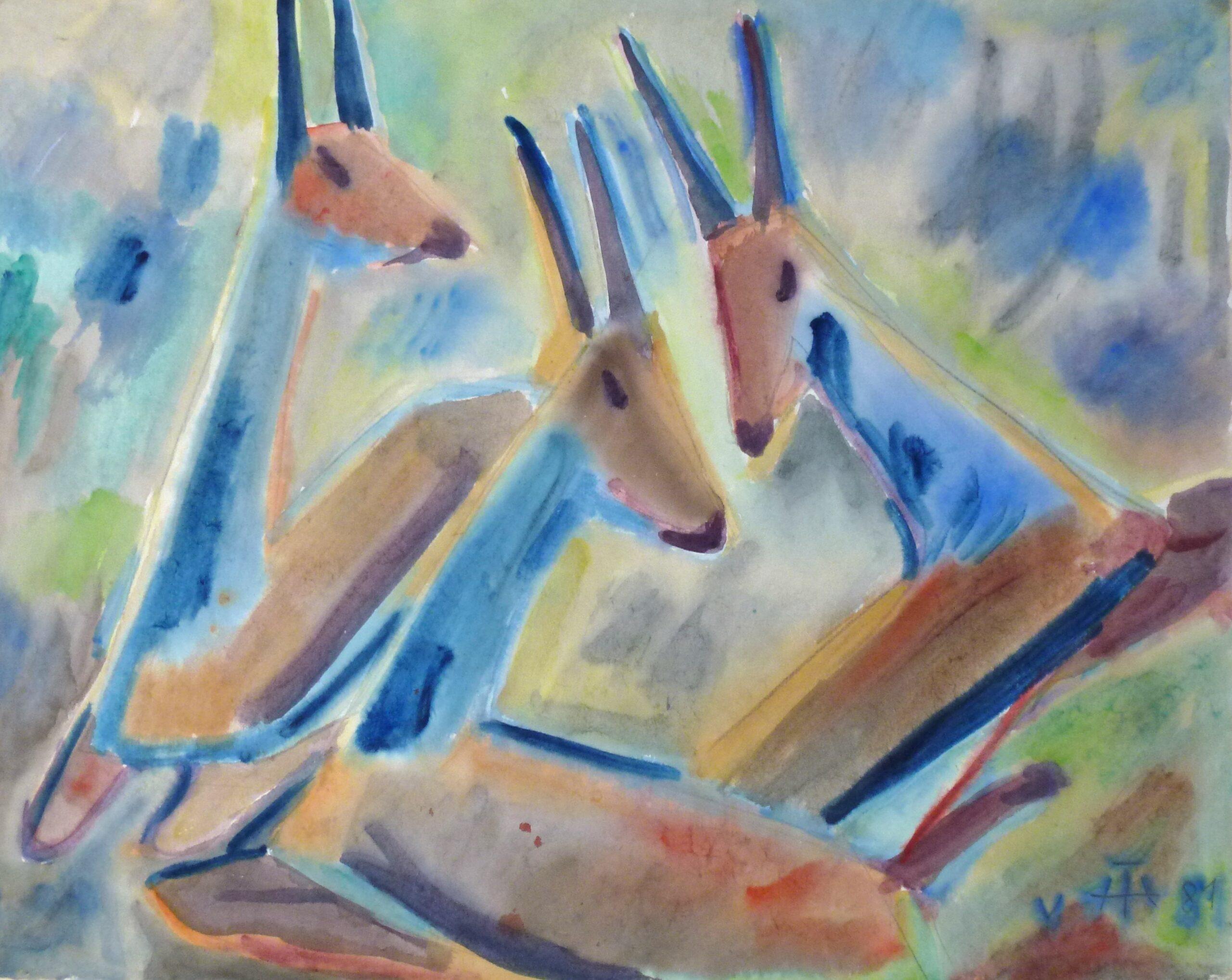 Drei Liegende Antilopen – Mai 1981