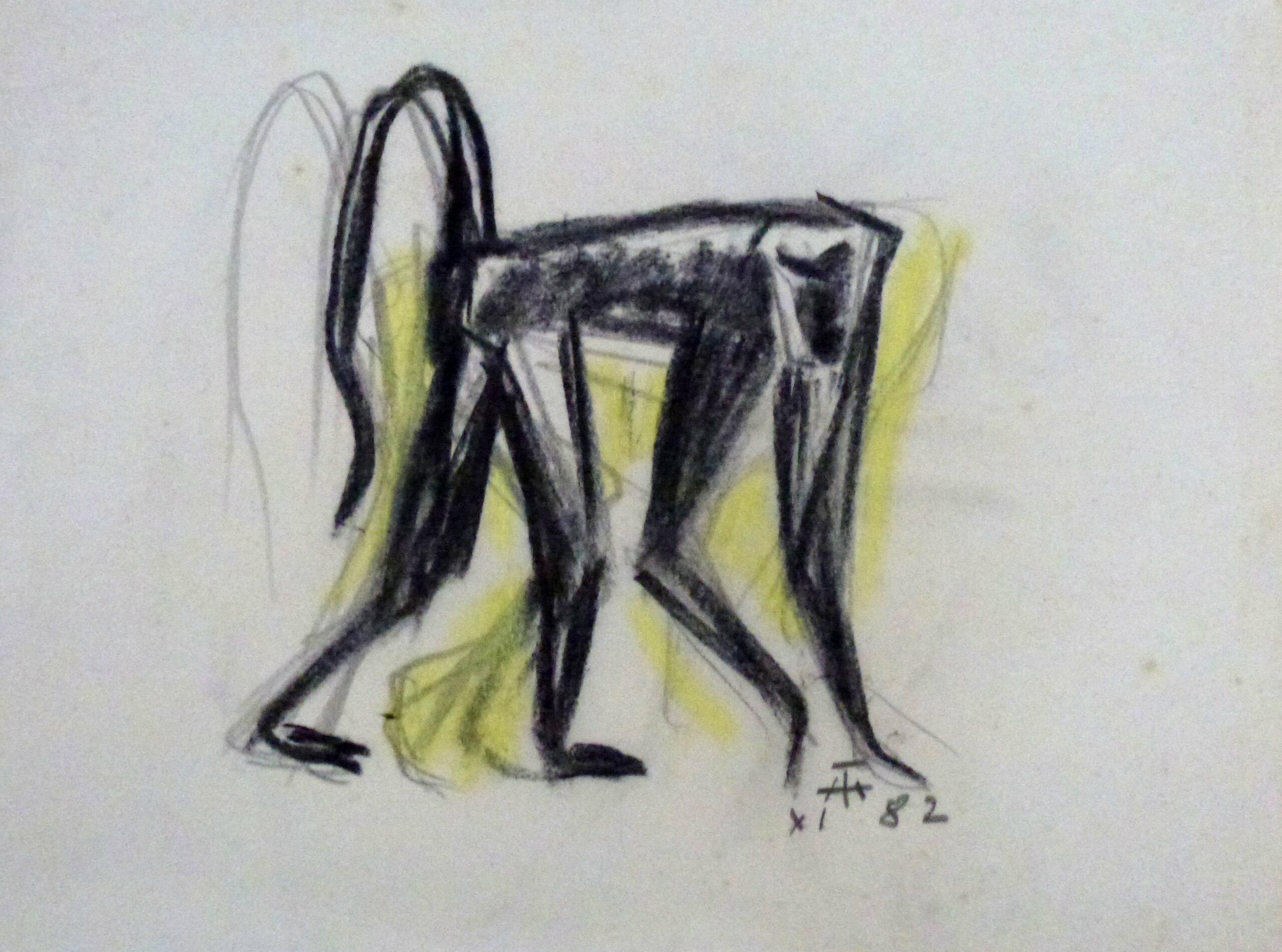 Chobe schreitender Affe – Oktober 1982