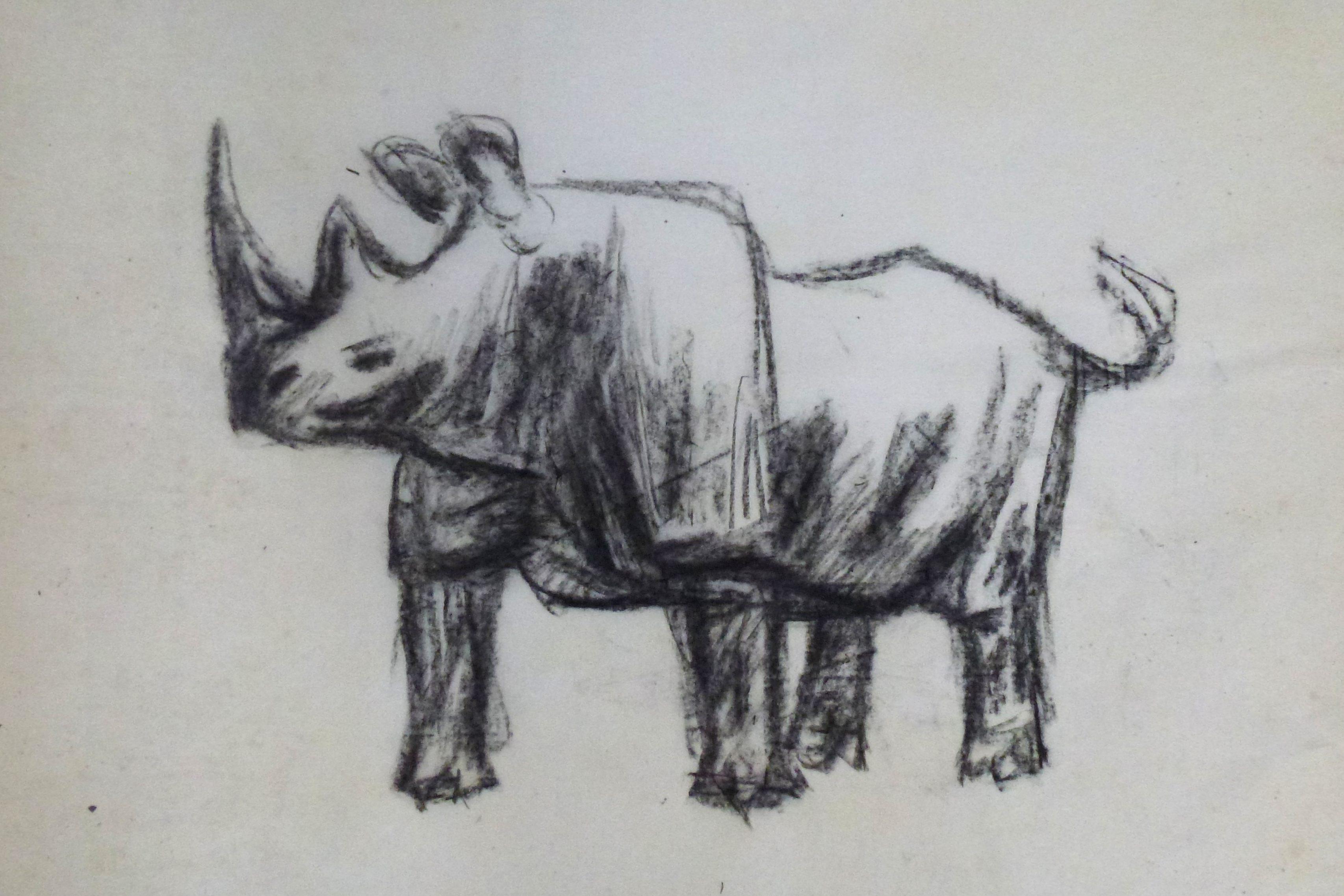 Nashorn stehend – Januar 1984