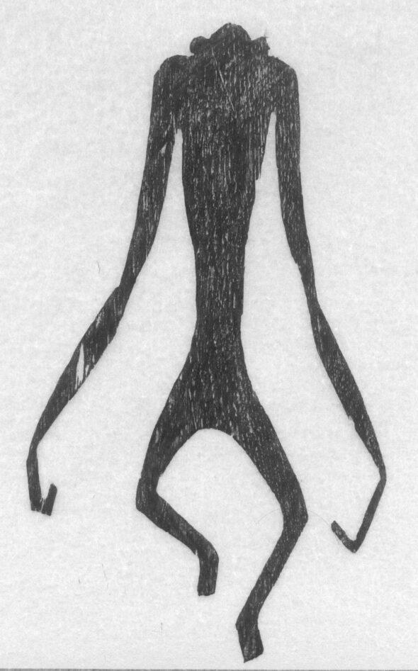 Holzschnitt Schreitender Affe