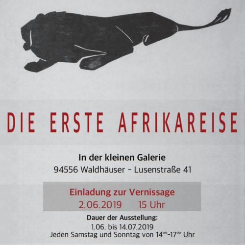 """Vernissage """"Die erste Afrikareise"""""""