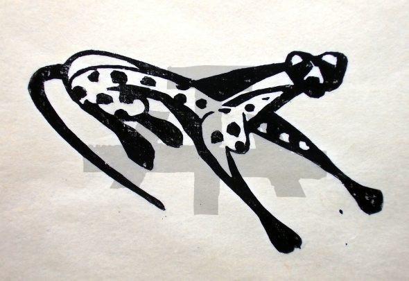 Holzschnitt Gepard